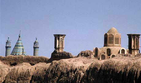 Írán. Nezaměnitelné panorama historického města Kášánu