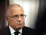 Prezident Václav Klaus oznamuje, že podepsal Lisabonskou smlouvu (3. listopadu 2009)