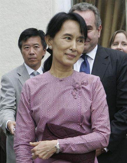 Barmská disidentka Do Aun Schan Su Ťij (4. listopadu 2009)