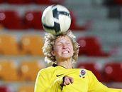 Momentka z utkání Ligy mistryň fotbalistek: Sparta Praha - Arsenal LFC