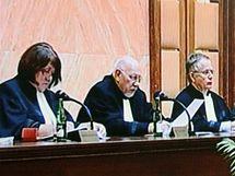 Jednání Ústavního soudu v Brně o Lisabonské smlouvě. (3. listopadu 2009)