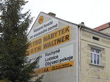 Česko-německé nápisy v rakouském Laa