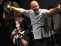 Premi�ra hry �esk� mo�e v Divadle Husa na Prov�zku. Marta Kubi�ov� a Vladim�r Mor�vek