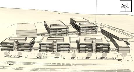 Vizualizace projektu na vybudování Středoevropského technologického institutu CEITEC vBrně