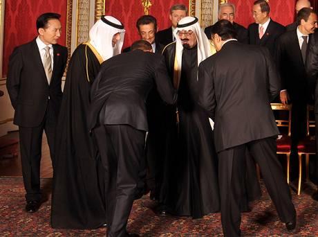 Obama u saúdského krále Abdulláha