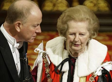 Baronka Margaret Thatcherová při projevu královny (18.11.2009)
