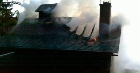 Rozlehlou loveckou chatu včetně řady vzácných trofejí zničil požár v oboře u Radějova na Hodonínsku
