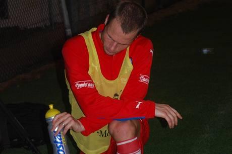 David Rozehnal při tréninku ve Spojených arabských emirátech