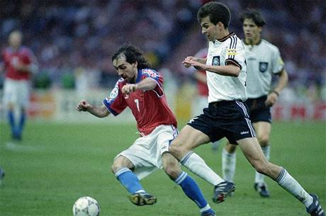 Euro 1996: Jiří Němec ve finále proti Německu