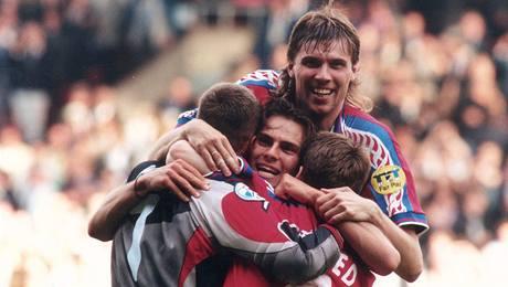 Euro 1996: Petr Kouba, Patrik Berger, Pavel Nedvěd a Pavel Novotný