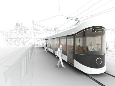 Excelentní studentský design 2009 - Anna Marešová, tramvaj pro Prahu TFP1