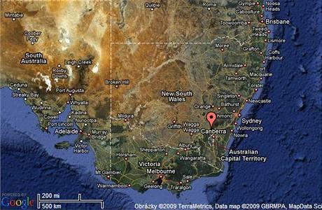 Město Yass v Austrálii
