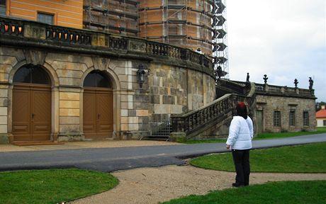 Německo, zámek Moritzburg. Výstava Tři oříšky pro Popelku