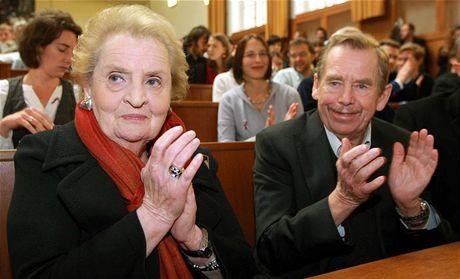 Jedním z hostů konference Svoboda a její nepřátelé byla také bývalá ministryně zahraničí USA Madeleine Albrightová.