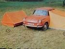 Stanový přístřešek k osobnímu autu vyšel podle katalogu Magnetu na 550 Kčs