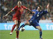 Portugalsko - Bosna a Hercegovina, domácí Pepe Ferreira (vlevo) a  Zvjezdan Misimovic