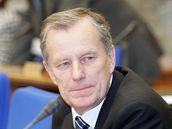 Pavel Zářecký v roce 2005 jako ministr pro legislativu ve vládě Jiřího Paroubka.
