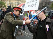 Vzpomínková akce k výročí sametové revoluce na Moravském náměstí v Brně