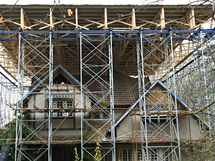 Jurkovičova vila. Kulturní památka se opravuje.