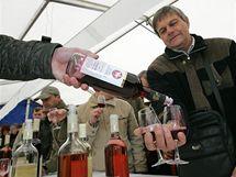 Slavnostní otevření Svatomartinských vín na náměstí Svobody v Brně přilákalo stovky lidí.