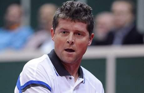 Jiří Novák při exhibici Advantage Tennis v Praze