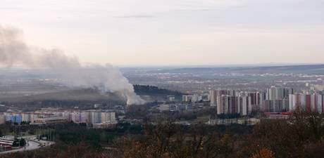 Požár v líšenské hale ASA