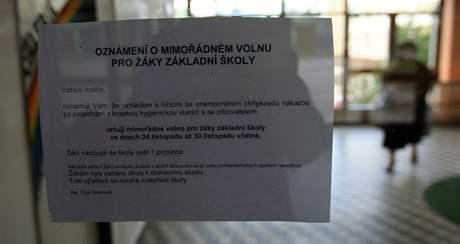 V základní škole na Jihomoravském náměstí v Brně- Slatině je už kvůli chřipce zavřeno