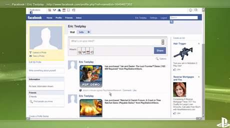 PS3 a Facebook