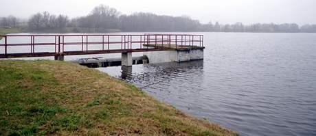 Vodní nádrž na Vyškovsku.