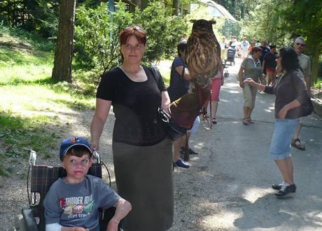 Lukáš Hýbl se svou matkou Janou