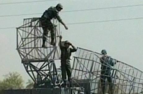 Záběry z íránské státní televize ukazují rozsáhlé vojenské cvičení vojáků (23. 11. 2009)