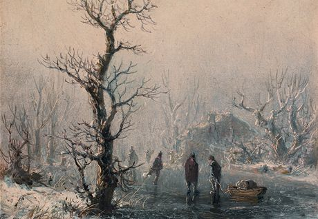 August Piepenhagen - Na ledě (60. léta 19. století)
