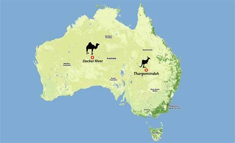Mapa Austrálie.