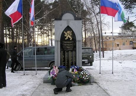 Pomník československých legionářů v ruském Tagilu.