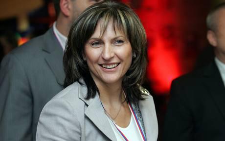 Ivana Řápková na kongresu ODS. (21. listopadu 2009)