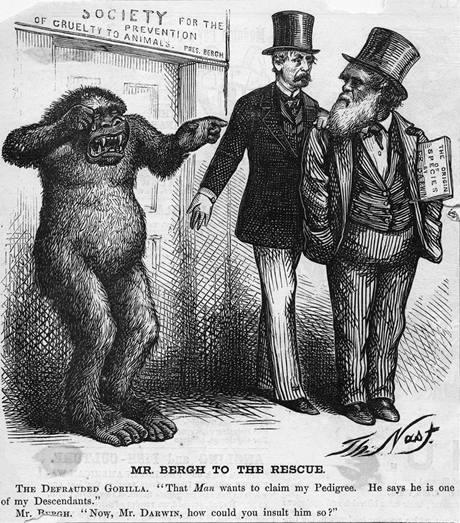 Dobová karikatura Thomase Nasta.