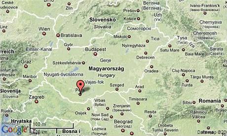 Mapa Maďarska