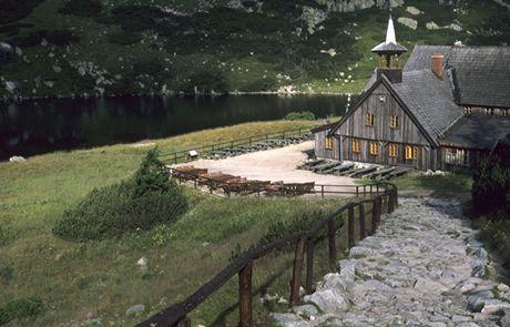 Polsko, Krkonoše, horská chata Samotnia