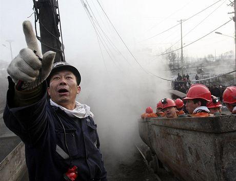 Důlní neštěstí v čínské provincii Chej-lung-ťiang.