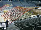 Stavba dráhy pro FMX Gladiator Games 2009