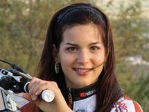 Tereza Huříková v dresu týmu Trek Lorca Taller del Tiempo