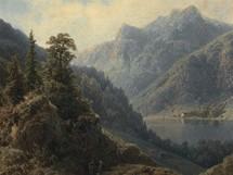 August Piepenhagen - Jezero mezi horami (40. léta 19. století)