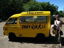 Jihoafrická republika. Nejlevnější osobní doprava v Kapském Městě - sběrné taxíky Rikkis