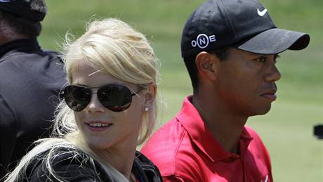 Elin Nordegrenová a Tiger Woods.