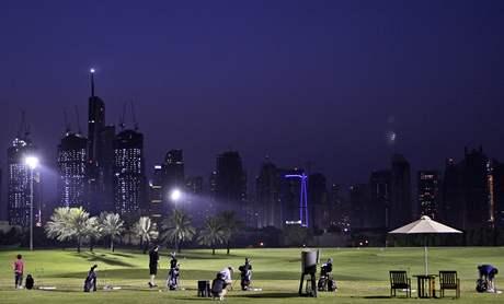 Driving range v Dubaji.