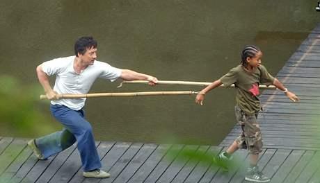 Z natáčení remaku filmu Karate Kid