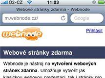 Webnode na iPhone