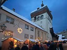 Rakousko, vánoční trh ve vorarlberském Bregenzer Oberstadt