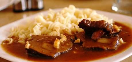 Štěpánská pečeně v Pivovarské restauraci v Brně
