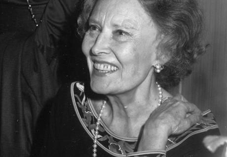 Lída Baarová při oslavě sedmdesátých narozenin (Vídeň)